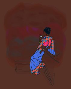 Imported from image metadata: mini sketch_30 day_ [Recovered] ------------ Cart Icon, Museum, Indian Fashion, Fashion Art, Art Prints, Kitty, Photo And Video, Indian Art, Creative
