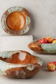 Teak and Resin Bowl #anthropologie