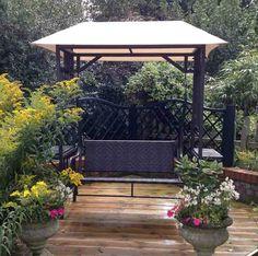 Vintage Swing Seat Metal Canopy Garden 2 Seat Romantic Patio Outdoor Trellis NEW