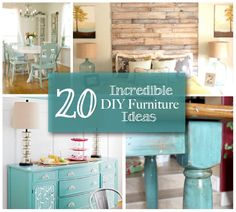 20 Incredible DIY Furniture Ideas - Inspirational pics only.  Compiled by Made 4 A King.