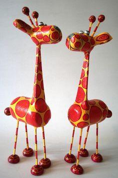 Papier Mache Giraffes
