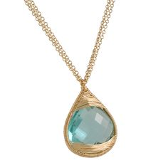 The Clay Pot :: Dana Kellin :: DANA KELLIN - Large Aqua Pendant Necklace