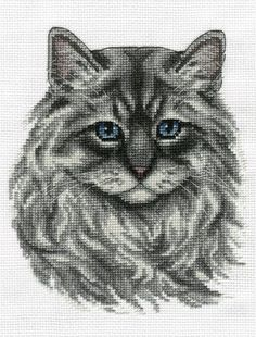 Neva Masquerade Cat Cross Stitch Kit Cat Cross Stitches, Cross Stitch Needles, Beaded Cross Stitch, Counted Cross Stitch Patterns, Cross Stitch Charts, Cross Stitch Designs, Cross Stitching, Cross Stitch Embroidery, Embroidery Kits