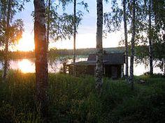 Sauna and lake