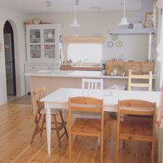 _____mayaさんの、椅子,食器棚,IKEA,ダイニング,テーブル,ナチュラル,リビング,のお部屋写真