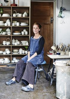 Sophie Harle in her Brunswick studio. Photography – Sean Fennessy.