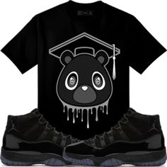 official photos 013fe 278ba Original Rufnek T-Shirt Jordan 11 Cap Gown Sneaker Tees Shirt - GRAD BEAR