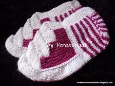 VERA E SUAS MANUALIDADES: MEUS TRABALHOS-PANTUFA TURCA Crochet Hats, Slippers, Beanie, Socks, Pasta, Fashion, Fuzzy Slippers, Loafers & Slip Ons, Shoes