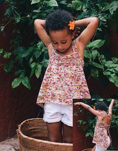 Revista principiantes 3 Primavera / Verano | 75: Niños Jersey | Blanco-Naranja-Rosa