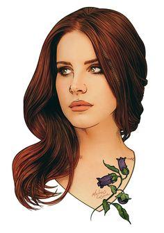 Lana Del Rey #LDR #art by Mateus Cosme