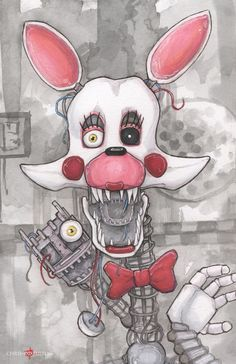 Five Nights at Freddy's Mangle Poster Print by ChrisOzFulton