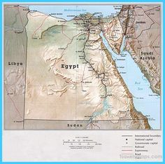 awesome Map of Egypt