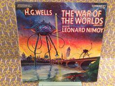 Rare Vinyl Record - Leonard Nimoy reads War of the Worlds by HG Wells Caedmon TC 1520