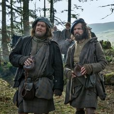 Grant O'Rouke as Rupert and Stephen Walters as Angus Mhor in Outlander Stills from 1.09 The Reckoning on Starz via http://www.farfarawaysite.com/section/outlander/gallery1/gallery.htm