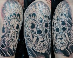 """Barong – """"A lion-like creature and character in the mythology of Bali, Indonesia"""". Being Indonesian and a Leo... I always a tattoo of a barong. Very cool interpretation on skin. Sock Tattoo, Balinese Tattoo, Mythology Tattoos, Barong, Future Tattoos, Ink Art, Sleeve Tattoos, Tatoos, Tatting"""