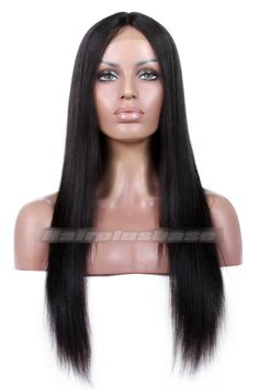 Indian Remy Hair Middle Part Yaki Straight Natural Looking Glueless Lace Part Lace Wigs Affordable Lace Front Wigs, Affordable Human Hair Wigs, Cheap Human Hair Wigs, Human Hair Lace Wigs, Celebrity Wigs, 360 Lace Wig, How To Make Hair, Love Hair, Remy Hair