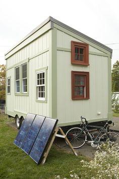 Building A Tiny House On A Trailer | Elizabeth's Tiny House will have a sleeping loft, storage loft ...