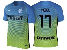 Internazionale Milano #17 Gary Medel 2016-17 Alternate Short Shirt