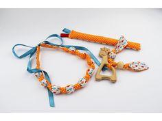 Korále Kojacie korále. Bavlnený náhrdelník.