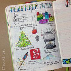 Bullet Journal Dezember Erinnerungen
