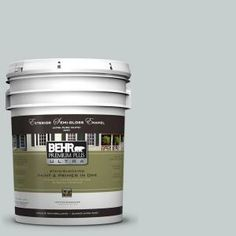 BEHR Premium Plus Ultra 5-gal. #720E-2 Light French Gray Semi-Gloss Enamel Exterior Paint-585005 at The Home Depot