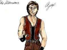 Original costume design for Ajax by Bobbie Mannix and Mary Ellen Winston