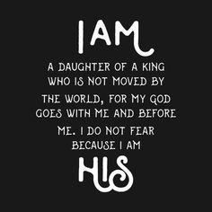 I AM HIS DAUGHTER KING SHIRT GIRLS