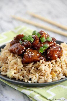 Lightened Up General Tso's Chicken