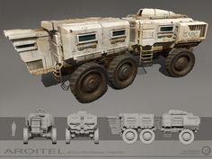 AROITEL - Articulated Personnel Transport, Billy Wimblett on ArtStation at https://www.artstation.com/artwork/ykBb8