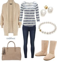 """""""Simple and Comfy Winter Spring Outfit"""" by natihasi on Polyvore"""