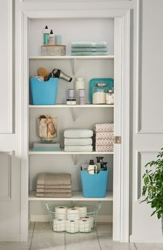 An Organized Bathroom Needs A Functional Linen Closet E Closetmaid