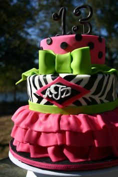 Pink skirted zebra with a monogram ...holy lovely fun