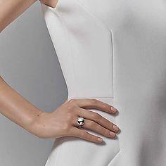Tiffany HardWear ball ring in sterling silver.