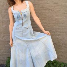 vintage Christian Lacroix denim corset vest bustier long dress maxi 42 M | eBay