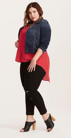 Plus Size Hi-Lo Top #cutePlussizeclothes