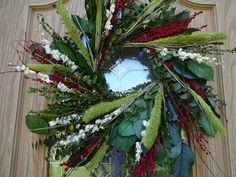 Twig Wreath, Green Wreath, Wreath Crafts, Floral Wreath, Indoor Wreath, Outdoor Wreaths, Autumn Wreaths, Holiday Wreaths, Lavender Wreath