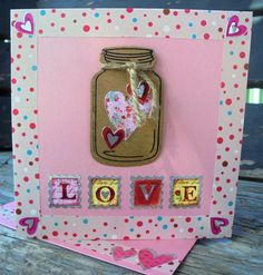 Shop for on Etsy, the place to express your creativity through the buying and selling of handmade and vintage goods. Jar Of Hearts, Half Price, Valentine Day Cards, My Etsy Shop, Awesome, Unique Jewelry, Handmade Gifts, Pink, Vintage