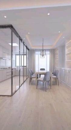 Small Room Design Bedroom, Small House Interior Design, Kitchen Room Design, Home Room Design, Modern Kitchen Design, Apartment Design, House Rooms, Home Decor Styles, Organizing