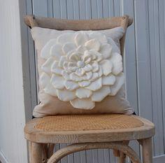 Sateen flower pillow cover