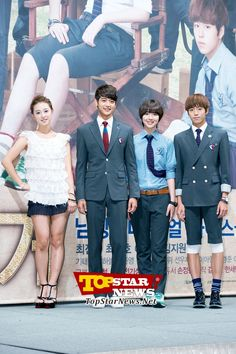 Kim Ji Won, Min Ho, Sulli, Lee Hyun Woo at the production report conference…'To the Beautiful You' Production Report Conference [KDRAMA]