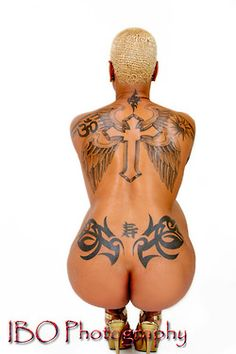 #tattoos #tatted #tatts #ink #inked #art #erotica #nsfw - Black - African American Women with Tattoos.