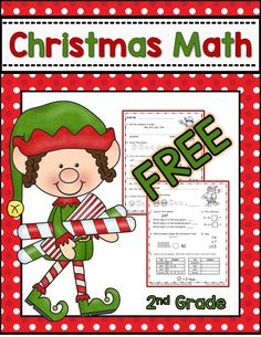 Christmas Math for 2nd grade--FREE math spiral review