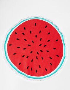 Bild 1 von South Beach – Rundes Strandtuch im Wassermelonen-Design
