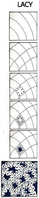 La vida imita garabatos: Lacy: no oficial de Zentangle patrón / ZIA