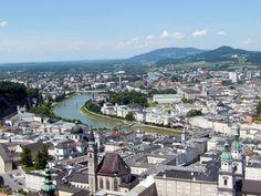 Salzburg-Salzach-Blick vom Moenchsberg Salzburg, Dolores Park, Travel, Europe, City, Vacation, Voyage, Viajes, Traveling
