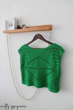 20 Inspiring FREE Filet Crochet Patterns: Filet Crochet Shirt Free Pattern