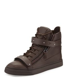Giuseppe Zanotti Men's Double-Strap High-Top Sneakers