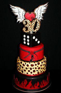 Th Birthday Cake Inspirational Cakes And Goodies Pinterest - Rockabilly birthday cake