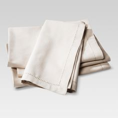 Take the eco-friendly route at home and invest in a set of cloth dinner napkins. The Cotton Napkins Set of 4 from Threshold™ is a great place to start, with a subtle neutral color and plain weave that will match with any decor style. Reusable napkins are not only sustainable, but instantly enhance any tablescape. These napkins are easy to clean and maintain, so feel free to use them every day, and not just during holiday dinners. Your family and the environment will thank you.