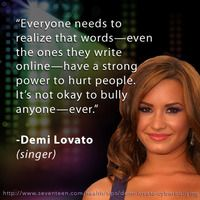 Demi Lovato reminds us that words can hurt too. Show your support for bullying prevention: http://expi.co/0IS4